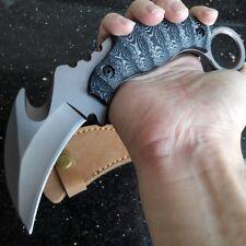 Karambit Knife Huntsman Survival D2 Steel Blade Camping Tactical Claw Knives