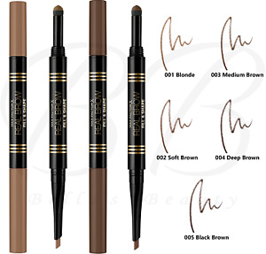 MAX FACTOR Real Brow Fill and Shape Eyebrow 2-in-1 Pencil 0.66ml *CHOOSE SHADE*