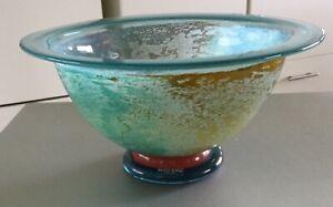 Vintage Rare Kosta Boda Multi-Coloured Can Can Bowl by Kjell Engman 59146