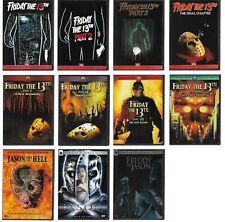 Friday The 13th Part 1, 2, 3, 4, 5, 6, 7, 8, 9, 10 & Freddy vs Jason (11 Dvds)