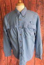 LL Bean Mens Long Sleeve Fishing Outdoor Hiking Shirt L Vented Color Blue 394948e9fece