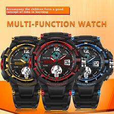 Waterproof Multifunction Sport Electronic Digital Watch For Child Boy Girl AU