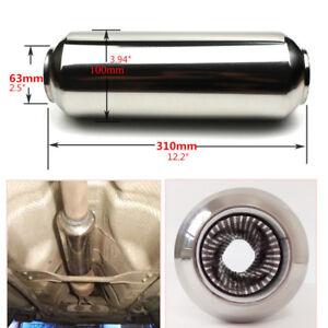 1PC Steel 63mm/2.5'' 310mm Car Exhaust Muffler Silencer Tornado Muffler Polished