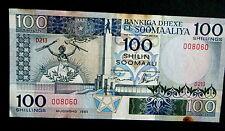 ★★ SOMALIE ● RADAR VARIETE ● BILLET DE 100 SHILLINGS 1989 ● SUP ★★