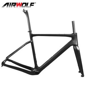 Carbon Fiber Gravel Bicycle Frame Cyclocross Bike Frameset Disc 700*40C BB386