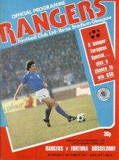 Programm   1979-1980   Glasgow Rangers v Fortuna Düsseldorf   Cup Winners Cup