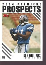 ROY WILLIAMS 2004 TOPPS ROOKIE CARD MINT RC SP TEXAS DETROIT LIONS