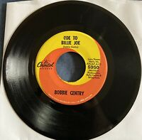 Bobbie Gentry Ode To Billie Joe/Mississippi Delta 45rpm Single - Good Condition!
