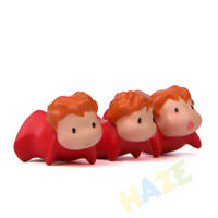 3pcs/Set Ponyo on the Cliff Ponyo Mini Figure Model Toys Decoration