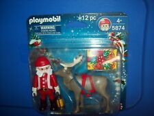 PLAYMOBIL 5874 SANTA CLAUS with REINDEER  ~ NEW Sealed Retired
