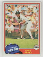 1981 Topps Baseball Boston Red Sox Team Set