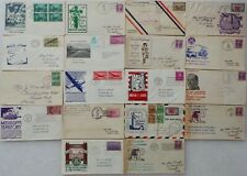 COLLECTION OF 18 VINTAGE UNITED STATES - STAMPS FIRST DAY COVERS - 1929 TO 1949