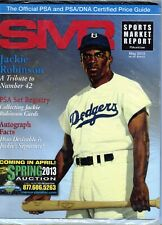 MAY 2013 JACKIE ROBINSON COVER SMR PSA SPORTS MARKET REPORT PRICE GUIDE MINT