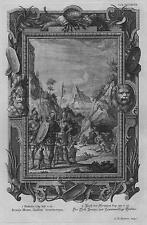 Incisione su rame originale da Physica Sacra (1735-8) - Benaja Heros, Gaditae