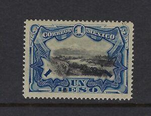 MEX 1899 ISSUE $1 PESO VIEW OF POPOCATEPELT STAMP  SC#302 CV$80+  (al 224)