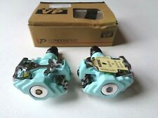NOS Vintage 1990s VP 107 (Bianche Celeste blue) clipless road pedals with cleats