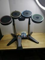 HARMONIX Rock Band Xbox 360 Drum Set XBDMS2 Drum, Pedal, Sticks & game