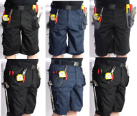 Blackrock Mens Multi Tool Pocket Heavy Duty Cargo Work Shorts Combat Trousers