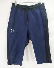 Under Armour Loose Fit HeatGear Cropped Active Pants Blue Men's Medium