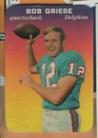 1970 Topps Football - Glossy Insert - #28 Bob Griese - Miami Dolphins - ex/nrmt