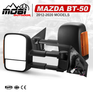 MOBI Extendable Towing Mirrors For Mazda BT-50 MY 2012-2020 With Indicators