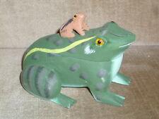 Frosch / Doppelfrosch aus Holz /ca.9,5 cm hoch ./ca.13 cm lang // ca.10 cm breit