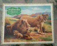 HAYTER VICTORY SERIES WOOD JIGSAW PUZZLE Lions 100 pcs Complete VGC Rare Vintage