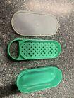 Vintage Jadeite Green Tupperware Cheese Grater Shredder #1375 3Pc Storage Lid