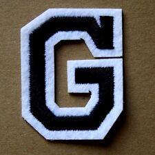 Letter G Alphabet  Iron Sew On Patch Applique Badge Motif