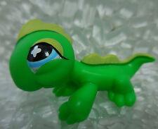 LPS #651 Green Iguana Lizard Blue Eyes Littlest Pet Shop Year 2007