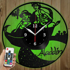 LED Vinyl Clock Aladdin LED Wall Art Decor Clock Original Gift 3779