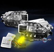 BUMPER FOG LIGHTS LAMP CHROME W/3000K HID FOR 06+ GS300 GS350 GS430 GS450H GS460