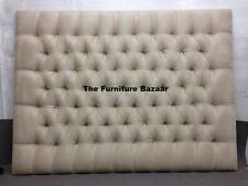 Althea Stripe Headboard Faux Leather Suede Chenille Linen Velvet 3 4'6 5ft 6ft 4ft6 Double
