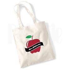 Desplazamiento Personalizado 'Apple' Bolsa De Lona-Regalo Para Gracias Profesor