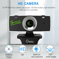 Webcam Camera Web Cam with Microphone For PC Laptop Computer Desktop USB 2.0 HD·