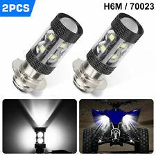 2X H6M Headlight For Yamaha Raptor 700 700R 2006-2018 100W 6000K White Led Bulb
