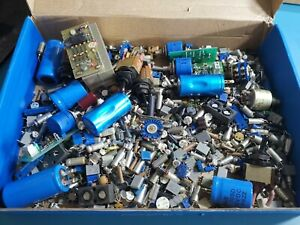 Various Electronic Components From Military Test Gear