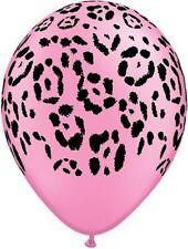 10 pc Neon Pink Safari Animal Print Latex Balloons Happy Birthday Party Jungle