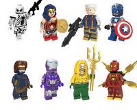 Marvel DC Super Heroes Building Blocks Captain America Spiderman Building Blocks
