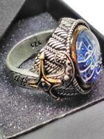 Turkish 925 Sterling Silver Men Ring Special Jewelry Islamic Sz 9 Fashion-luxury
