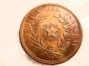PARAGUAY: 1870 SCARCE GRADE LARGE 4 CENTESIMOS EXTREMELY FINE PLUS