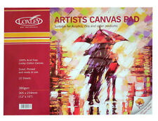 Loxley Acid Free Primed Artists Canvas Pad for Oil & Acrylic Painting 12 x 10""