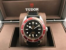 FREE OVERNIGHT! TUDOR HERITAGE BLACK BAY RED WATCH LEATHER CANVAS STRAPS 79220R
