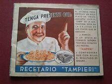 RARO ANTIGO 1940's SAN FRANCISCO/CORDOBA RECETARIO RECETAS DE COCINA TAMPIERI