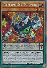 YU-GI-OH CARD: PERFORMAPAL ODD-EYES SYNCHRON - SECRET RARE - BLLR-EN004 - 1st ED