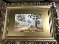 "W Barratt 1938 ""Path And Landscape Scene"" Watercolor Painting - Signed/Framed"