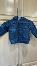 PATAGONIA Toddler Baby Down Jacket Size 2T Blue Reversible