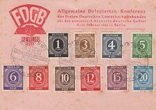 Allemagne (zone alliée): conférence de délégation générale 1946 carte utilisée inc 4PF