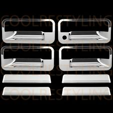 For Gmc Yukon 92-99 Chrome 4 Doors Handles Covers W/Out Passenger Keyhole