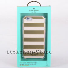 Kate Spade Hybrid Hardshell Case Cover for iPhone 6 iPhone 6s (Gold Stripes) NEW